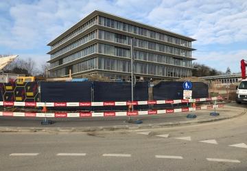 Nettoyage fin de chantier d'un bâtiment administratif à Ecublens.